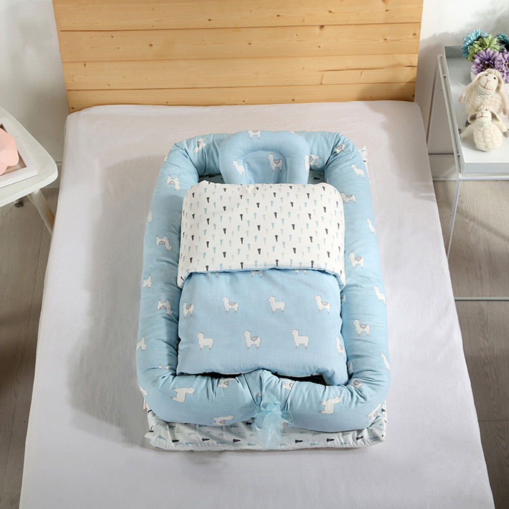 Co-Sleeping Bed Crib Portable Baby Bionic Bed Washable Travel Bed Removable Cotton Cradle Suit For 0-3Y Children