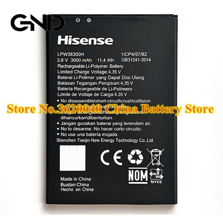 GND 3,8 V 3000 мА/ч, 11.4Wh LPW38300H Замена Батарея для Hisense H30lite мобильный телефон Новый литий-ионный аккумулятор литий-полимерные батареи