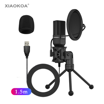 SF-777 Desktop USB Computer Microphone Condenser Microphone with Folding Stand Tripod P-o-p Filter for  PC Video Recording MIC usb studio condenser supercardiod samson c01u pro microphone with tripod stand