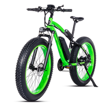 Elektrikli bisiklet 26*4.0 inç alüminyum elektrikli bisiklet 48V17A 1000W 40 km/saat 6 hız güçlü yağ lastik bisiklet dağ kar ebike
