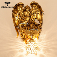 French Retro LED Wall Lamps Luxury Golden Art Vanity Light Wall Lights for Home Bathroom Living Room Decoration Wall Sconce Lamp