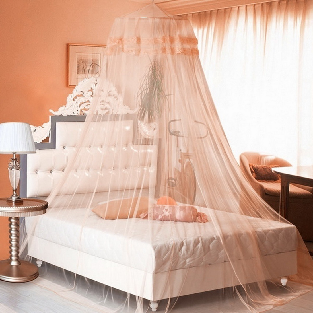 4 Colors Elgant Canopy Mosquito Net For Double Bed Mosquito Repellent Tent Insect Reject Canopy Bed Curtain Bed Tent