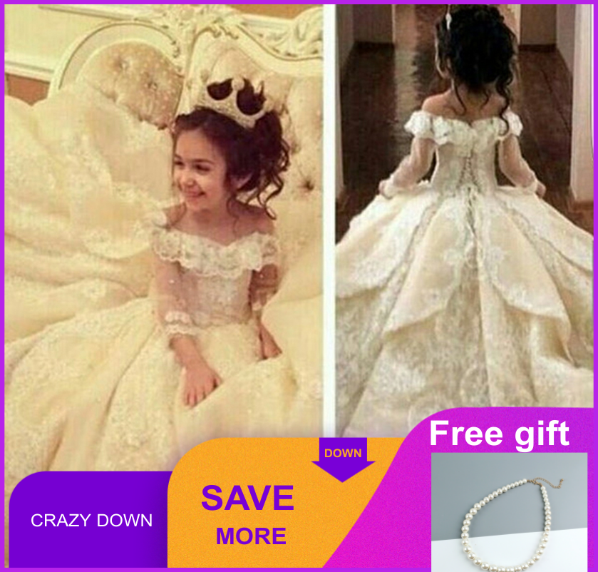 Baby Flower Girls Dress Princess Party Wedding Pageant Birthday Communion Gown