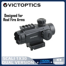 Victopics 1x30 Red Dot Sight Tube Style Hunting Reflex Scope Collimator Optical Sight Designed For Real firearms .223 .308win