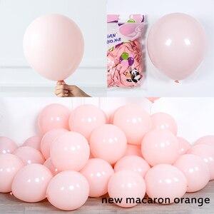 """Image 5 - 130Pcs Macaron Ballon Boog Guirlande 10 """" 36"""" Grijs Geel Ballon Met Kunstmatige Blad Voor Bruiloft Verjaardag evenement Partij Decoratie"""