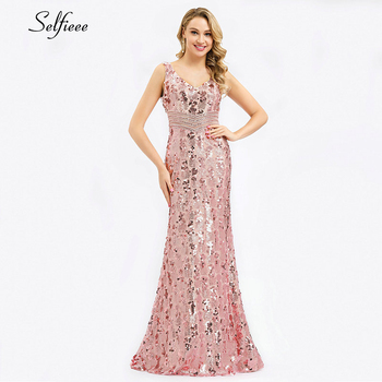 Sparkle women dresses Long Mermaid Sequined Tank V-Neck Sleeveless Sexy Maxi Summer Dresses 2020 Cheap Elegant Party Dresses 2