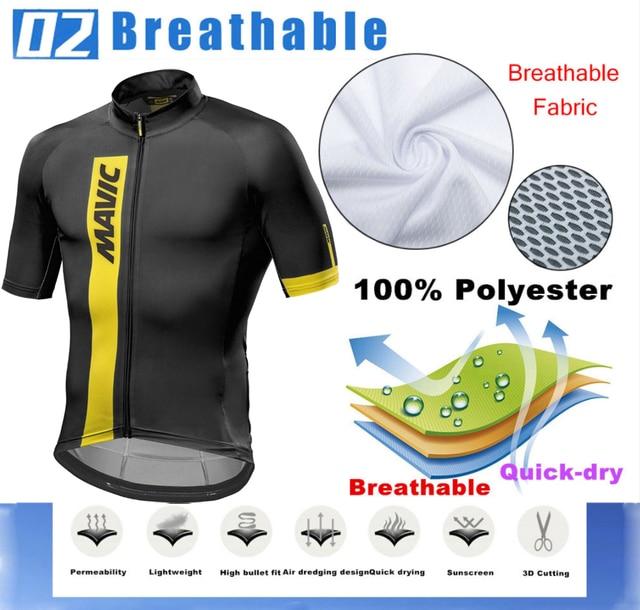 2019 mavic Bicycle Wear MTB Cycling Clothing Ropa Ciclismo Bike uniform Cycle shirt Racing Cycling Jersey