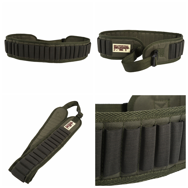 27 Rounds Hunting Bullet Ammo Tactical Military Airsoft Shotgun Shell Bandolier 12 Gauge Belt molle pouch hunting accessories 6