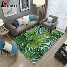 Miracille зеленый лист домашний ковер абсорбирующий 3d принт дверной коврик нескользящий микрофибра Коридор Ковры