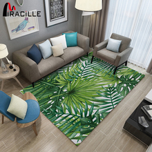 Miracille Green Leaf Home Carpet Absorbent 3d Print Door Mat Non Slip Microfiber Corridor Carpets Rug 3d pineapple print door mat