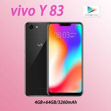 Vivo y83 versão global smartphone 4 64gb beleza câmera 1520x720 pixels 6.22 polegadas mediatek helio p22