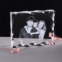 Photo Custom Crystal Photo Frame Personalize Laser Engraved Photo Album Square Picture Wedding Gift for Guests Souvenir Gift