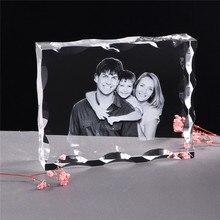 Personalización de foto marco de fotos de cristal personalizado grabado con láser álbum de fotos cuadro con imagen regalo de boda para invitados regalo de recuerdo
