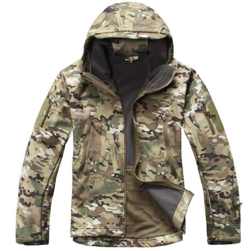 Tactische Jas Mannen Outdoor Militaire Camouflage Waterdichte Soft Shell Jassen Heren Winter Warme Fleece Vlucht Jassen Jacht Kleding