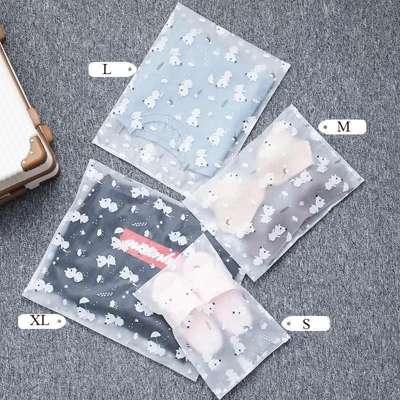 Мультяшный прозрачный косметический пакет Женская дорожная сумка для путешествий на молнии органайзер для макияжа хранение туалетных принадлежностей сумка для ванны