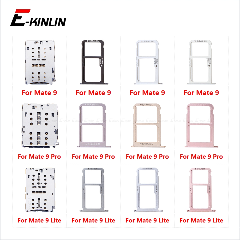 Sim Card Tray Socket Slot Reader Adapter For HuaWei Mate 9 Pro Lite Micro SD Card Holder Connector Container Replacement Parts