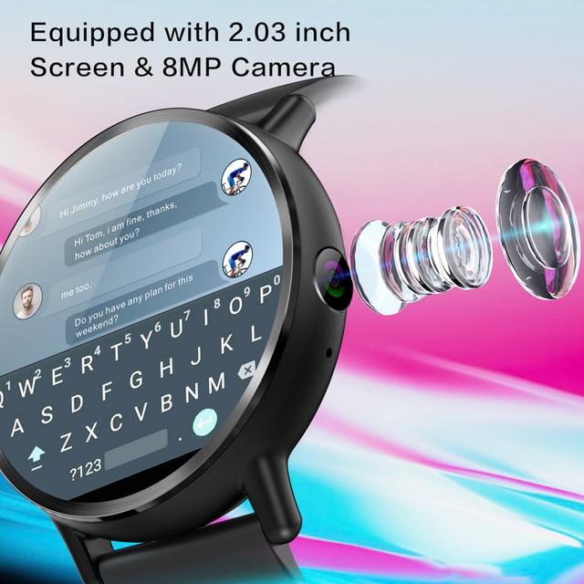 DM19 Smart Watch Men 4G Andriod 7.1 8.0MP Camera MTK6739 Quad Core 16GB Rom Fitness Tracker IP67 Waterproof Wifi GPS Smartwatch 4