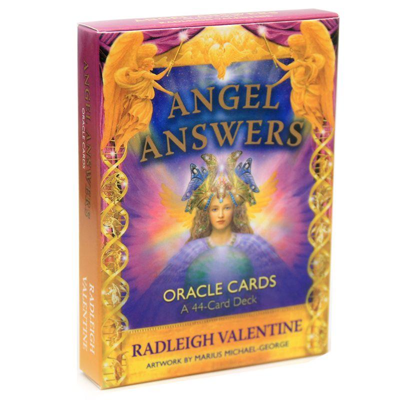 Ангельские ответы Tarot 44 колода карт с изображением ораклов полная английская семейная вечевечерние НКА для друзей H58D
