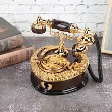 Caja Musical con forma de teléfono de estilo europeo Retro, organizador de almacenamiento de joyas, regalos creativos, adornos decorativos para el hogar