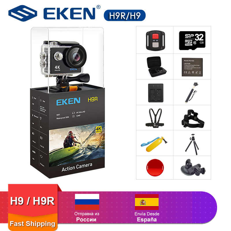 Eken H9 Action Camera H9R Wifi Ultra HD Mini Cam 4 K/30FPS 1080 P/60fps 720P /120FPS Tahan Air Video Olahraga Kamera