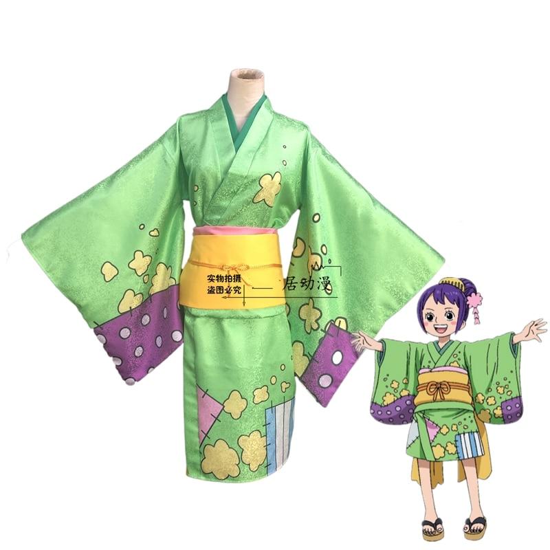 Anime One Piece Otama Cosplay de Kimono Comic juego de rol Cosplay vestido de Navidad y Halloween disfraz de lujo
