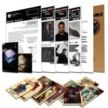 Агенты щита S. H. I. E. L. D файл черная Widow Hawkeye Капитан Америка конфиденциальная информация файл Мстители Косплей A4 бумага