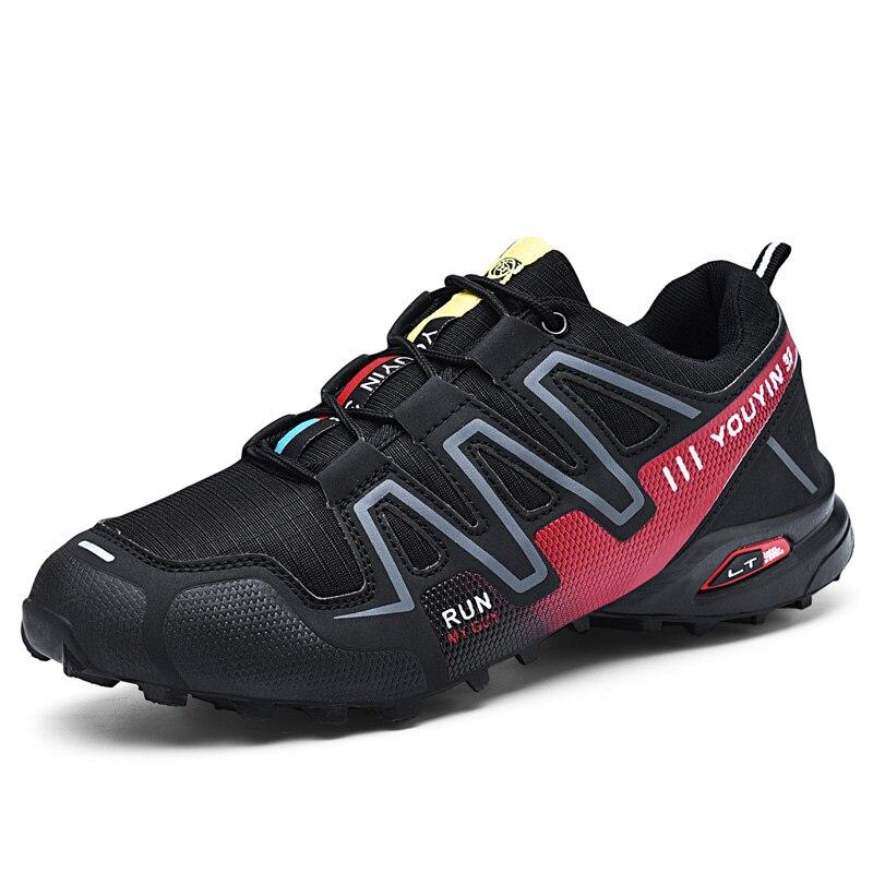 Men Shoes Outdoor Casual Shoes Mesh Breathable Comfortable Sneakers Hiking Rock Climbing Men Shoes No-Slip Male Shoes Plus Size