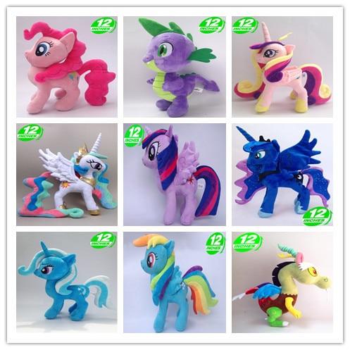 Unicorn Horse Princess Cadance Luna Nightmare Night Trixie Queen Chrysalis Plush Doll Stuffed Animal  Kids Toys Great Gift