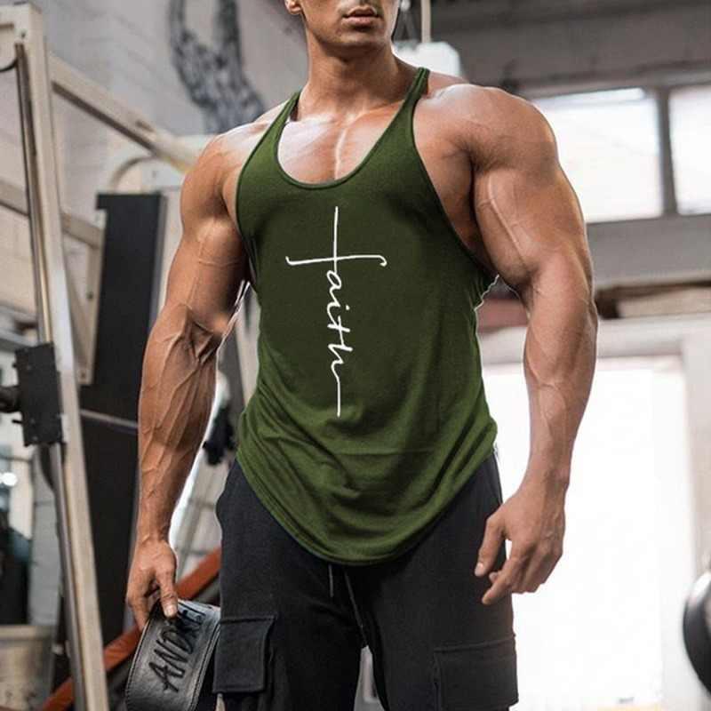 Gym Tank Top Pria Kebugaran Pakaian Pria Tank Top Bodybuilding Musim Panas Olahraga Pakaian untuk Pria Tanpa Lengan Rompi Kemeja Plus Ukuran