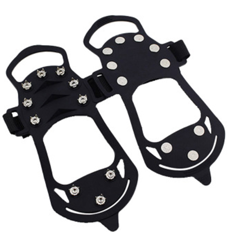 10 Stud Ice Gripper Spikes for Shoe Anti Slip Climbing Snow Crampons Cleats Chain Claws Grips Boots Cover