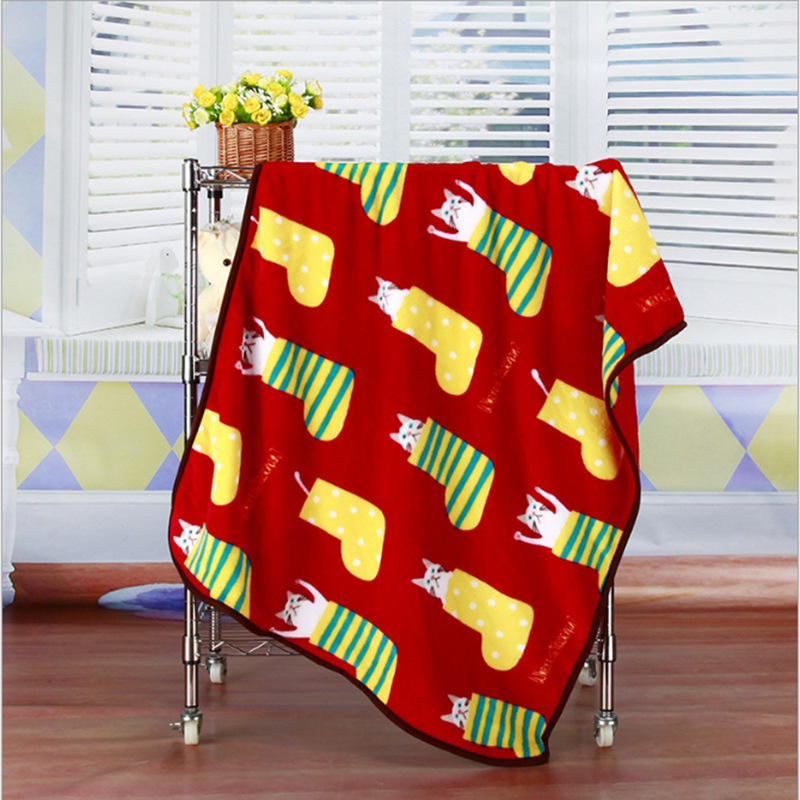 Super Soft Flannel Pet Blanket Bed Thicken Dog Cushion Puppy Kitty Shower Towel Cute Home Rug Warm Sleeping Cover Pet Supplies 11