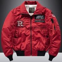 Red and White Bomber Jacket Men Military Fall Jacket Men American Jaket Bomber Winter Coat Men Japanese Streetwear Thick HH30JK