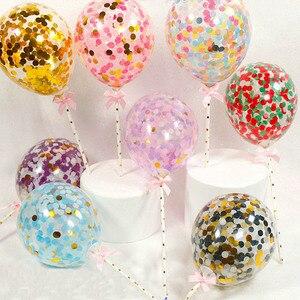 Image 5 - פלמינגו החתונה בלון Cupcake טופר קישוט ילדי מסיבת יום הולדת תינוק מקלחת חתונת טופר עוגות אפייה