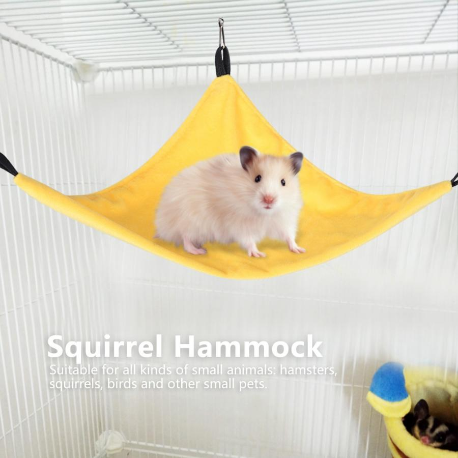 guohanfsh Cute Pet Hamster Squirrel Bird Hammock Hanging Bed Nest Sleeping Bag Cage Decor