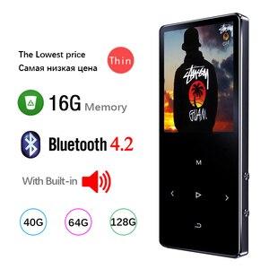 MP3-плеер Bluetooth, Hifi металлический портативный музыкальный плеер с Fm-радио, записью, встроенным динамиком, сенсорным ключом, 1,8-дюймовым Tft экра...