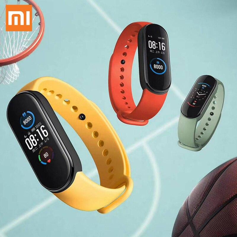 Nave veloce Globale Versione Xiaomi Mi Banda 5 Braccialetto Intelligente Miband 5 Smartband Per Il Fitness Traker Bluetooth di Sport Impermeabile Banda Intelligente