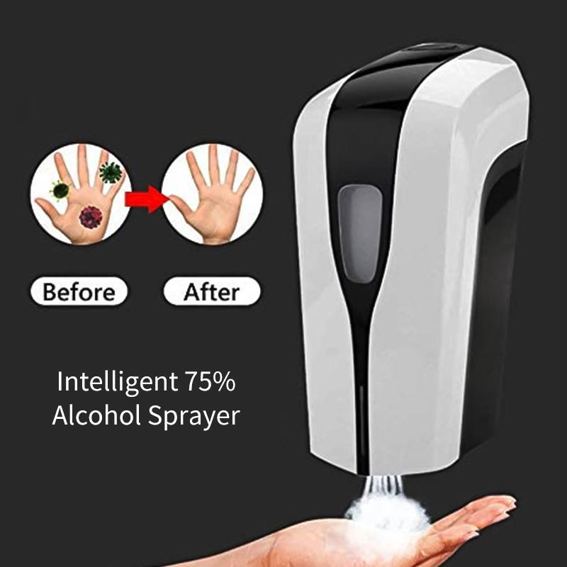 H723b9271030247109cce5955b8a9e63bE Wall-mounted Alcohol Mist Spray Hand Hygiene Soap Machine Touchless Hand Disinfection Machine Hand Cleaner 1000ml Soap Dispenser
