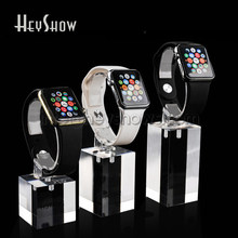 Transparent Watch Display Stand Acrylic Iwatch Holder Clear Apple Watch Show Base With Or Without Apple Logo(China)