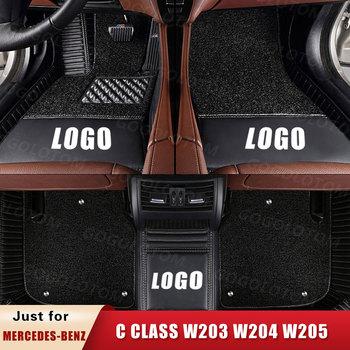 Custom Car Floor Mats for Mercedes-Benz C Class Klasse Clase C  W203 W204 W205 C250 C200 C300 C320 C350 C180 Sedan Trunk Mat