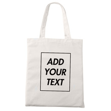Custom Tote Bag Shopping Add Your Text Print Original Design White Zipper Unisex Fashion Travel Canvas Bags stylish geometric print and zipper design women s tote bag