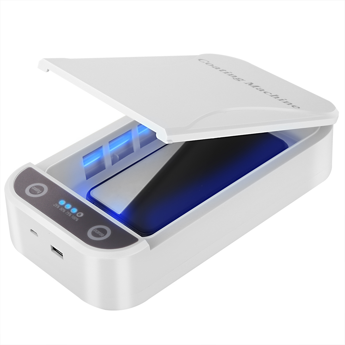 UV Sterilizer Box Portable Sterilizer Case UV Sterilizer Cell Phone Disinfection Boxes With USB Cable Dual UV Lights