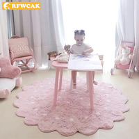 Ins Baby Carpet For Living Room Computer Chair Area Rug Children Play Tent Floor Mat Cloakroom Rugs And Carpets Kids Room Decor