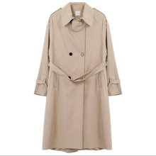 Spring Autumn Trench Coat Loose Double breasted Trench Coat Woman Trench Coat Long Women Windbreakers coat FC946 cheap VIHKLC CN(Origin) Spring Autumn Full Broadcloth Office Lady CASHMERE Polyester Button Pockets Adjustable Waist Solid Ages 18-35 Years Old