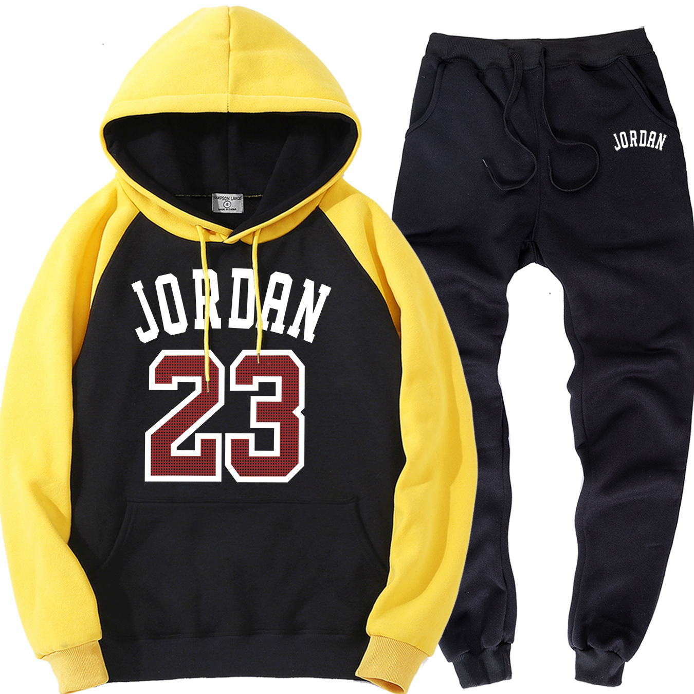 Jordan 23 Male Sports Suits Autumn Winter Warm Clothing Motorcycle Streetwear Mens Sports Sweatshirts+Sweatpants Two Piece Sets