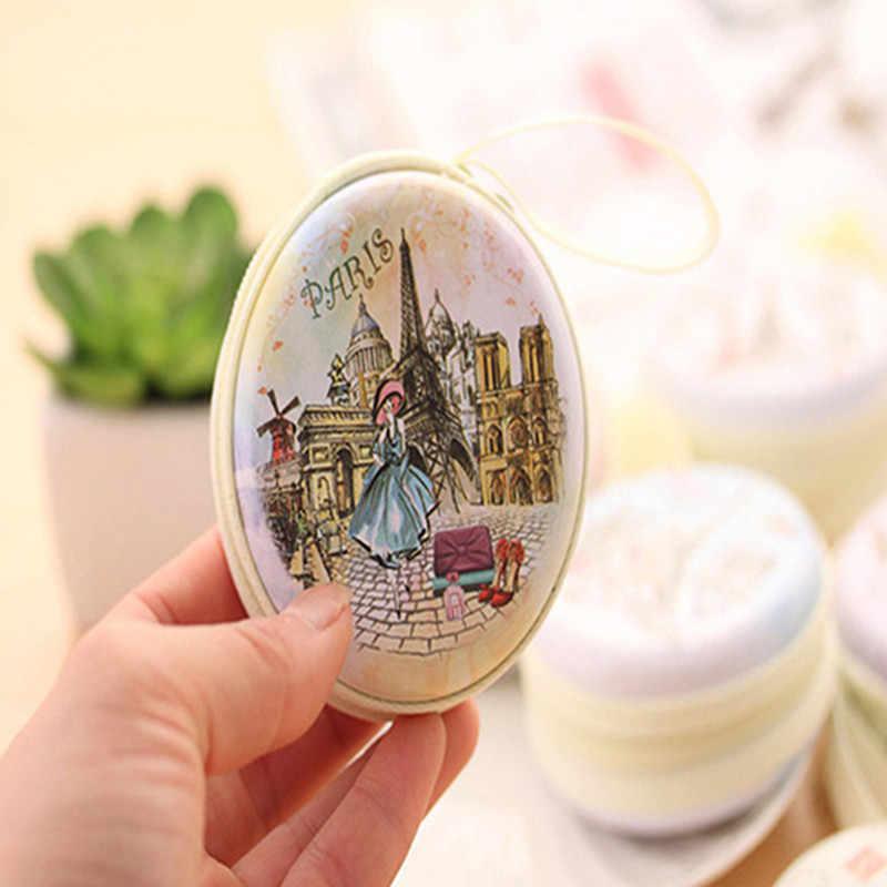 Портативный милый круглый кошелек с рисунком Эйфелевой башни, чехол для наушников с держателем для ключей, сумка высокого качества porte monnaie femme, чехол для ключей