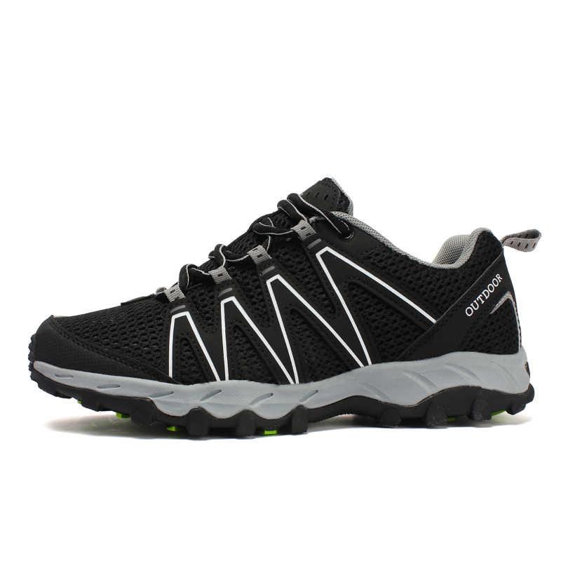 Новинка 2019 года; большие размеры для мужчин; походная обувь; уличные мягкие Нескользящие кроссовки; Мужская дышащая легкая обувь на шнуровке; обувь для скалолазания