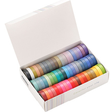 Sticker Scrapbook Stationery Masking-Tape-Decorative Adhesive-Tape Diary Rainbow Solid-Color