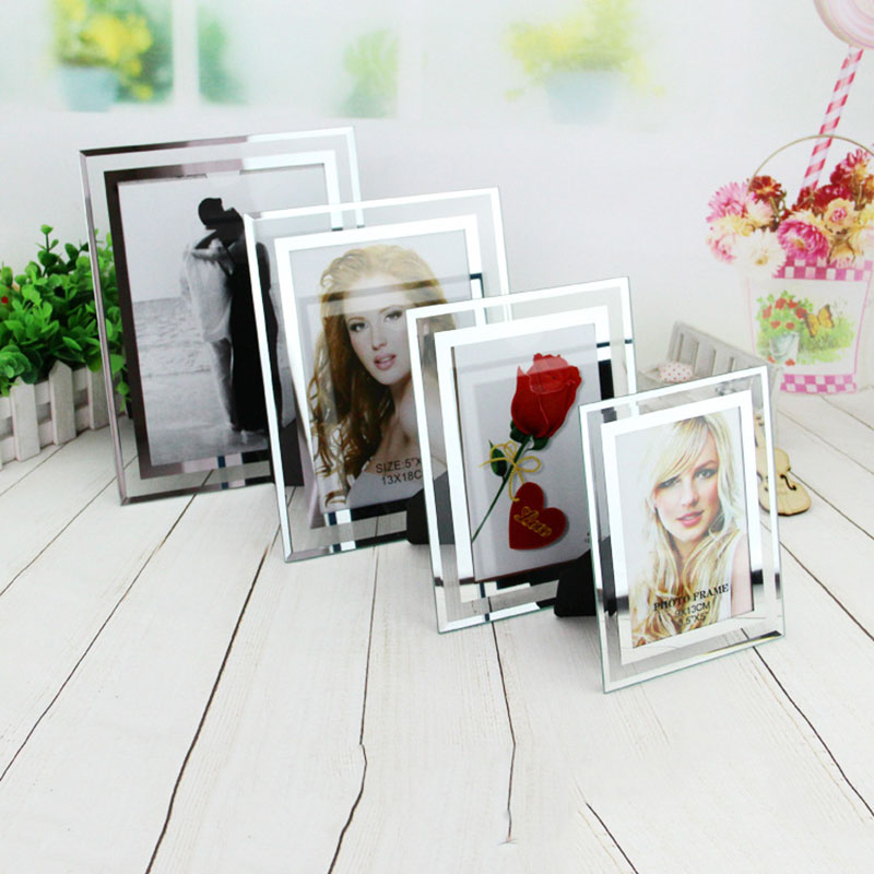 Hot Selling Album Frame Crystal Glass Frame Deck Certificate A4 Creative Photo Frame for Wedding Lover Baby Birthday Gift Decor image