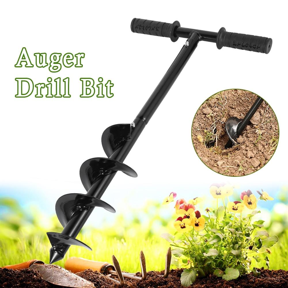 Auger Auger Rod Flower Planter Drill Bit Tool Planting Drill Yard Garden Bedding Planting Hole Garden Hand Tools