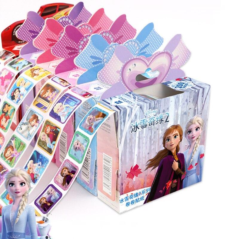 Véritable Disney reine des neiges 2 Elsa Anna autocollants amovibles princesse Scrapbooking pour enfants décor journal intime cahier décoration jouet autocollants